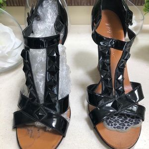 Betsey Johnson patent leather wedges